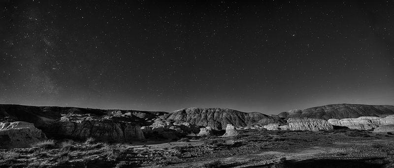 Долина, пейзаж, ночь, звезды Долина Киин Керишphoto preview