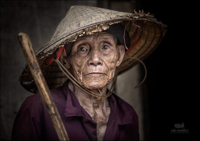 вьетнам, портрет, жанр, путешествия, обработка, фотошоп Портрет вьетнамского крестьянинаphoto preview