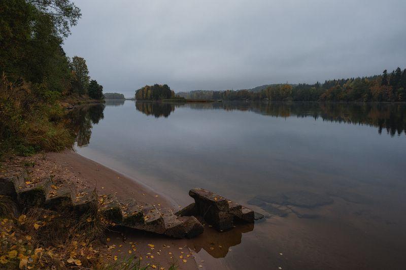утро,осень,тишина,река,вода,лестница,берега,пейзаж Утро.Осень.Тишина.photo preview