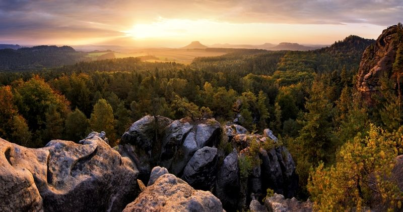 Saxon Switzerland autumn..photo preview
