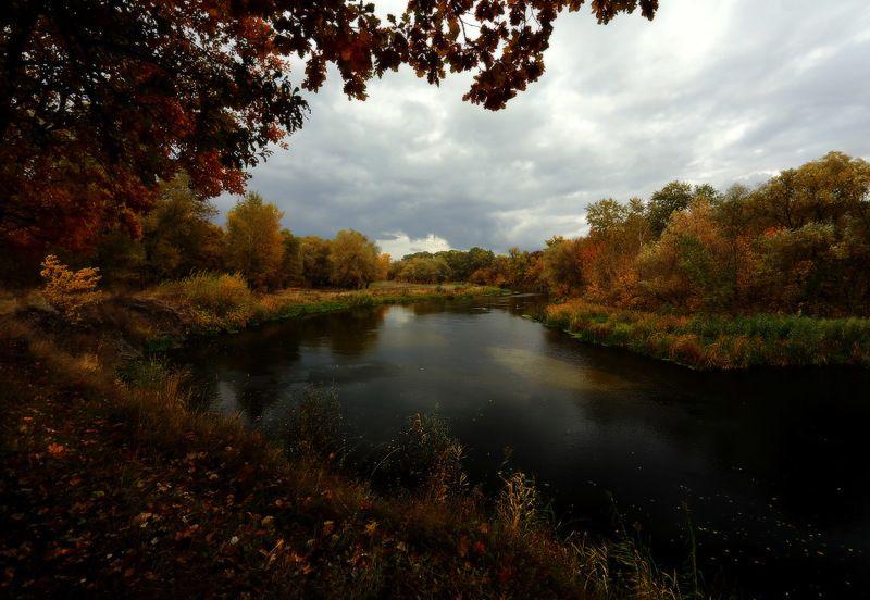 осень река вечер Тихая, тёплая, нежная осеньphoto preview