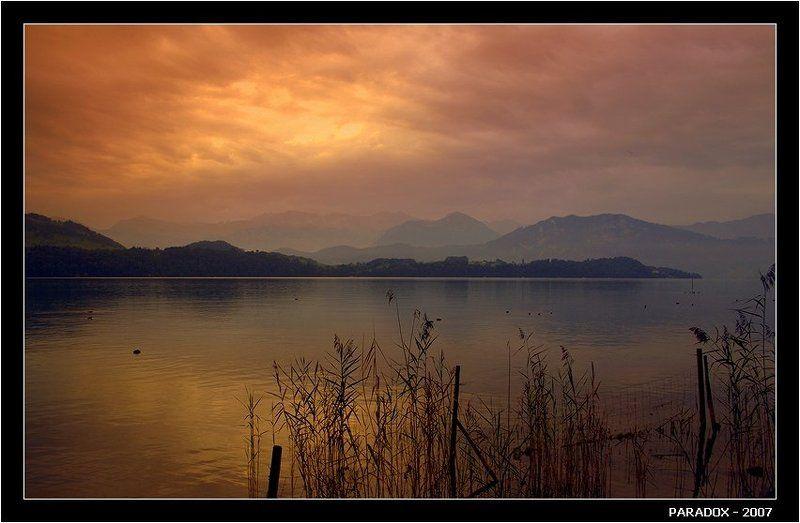 швейцария,озеро,рассвет,мерлишахен,горы,paradox Встретить в горах рассветphoto preview