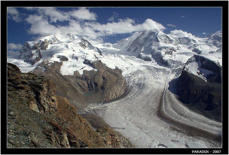 альпы, горнеграт,ледники, маттерхорн, вершины гор, paradox Ледники ведут к вершинамphoto preview
