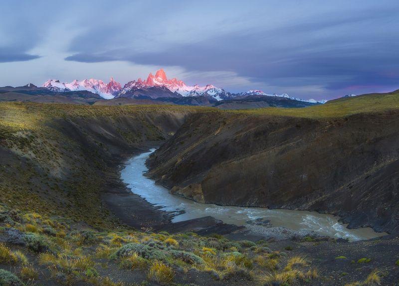 fitz roy, patagonia, argentina, патагония Фицрой на рассветеphoto preview