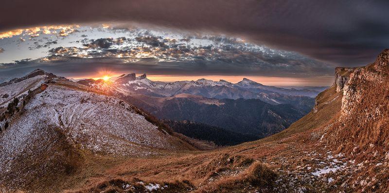 закат, тхач, ачешбоки, чёртовы ворота, чай гора, асбестная, осень, рассвет, \