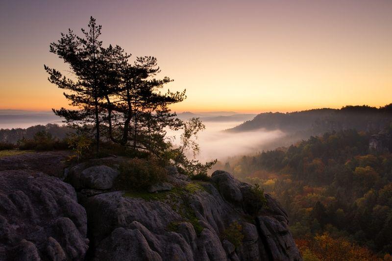 autumn, sunrise, colours, czech republic Czech Paradise..photo preview