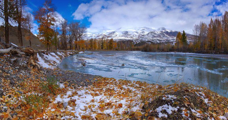 алтай, осень, река, вода, горы, чаган-узун, краски,  валерий_чичкин Осень на реке Чаган-Узунphoto preview