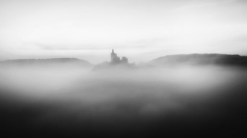 #castle #clouds #bnw #black _and_white #air_photography #dream #travel #adventure #landscape Cloud castle.photo preview