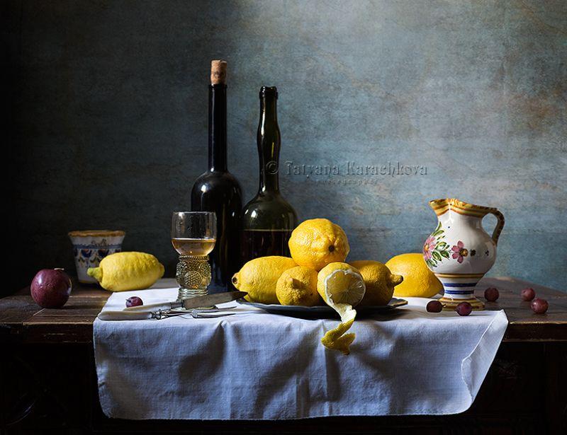 вино, лимон, фрукты, виноград, сыр,гранат, бутылка, лимончино, лимончелло Маленькие гастрономические радостиphoto preview