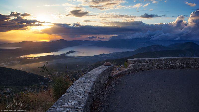 черногория, залив, закат, вечер, море, адриатика, монтенегро, пейзаж, представление, простор, свет, небо Тот самый день!photo preview