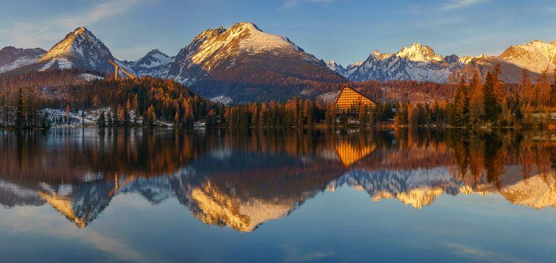 slovakia,autumn,strbske pleso,lake Farewell to autumnphoto preview
