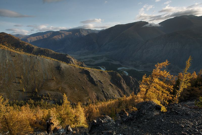 путешествия, чаган-узун, алтай, туризм, исследование, пейзаж, горы, река, хайкинг Золотой рассветphoto preview