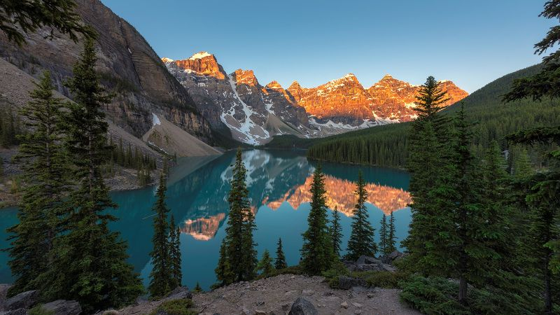 canada, banff, lake, nature, louise, moraine, landscape, scenery, mountain, canadian, rockies, summer, rocky, alberta, scenic, sunrise, hiking, trekking, national, park, calgary, glacier, water, reflection, travel, forest, turquoise, sky, background, wall Canadian Rockiesphoto preview