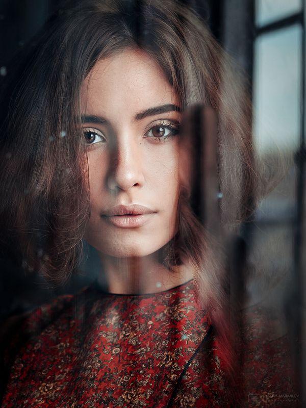 портрет, девушка, студия, естественный свет, portrait, girl, indoors, natural light Еваphoto preview