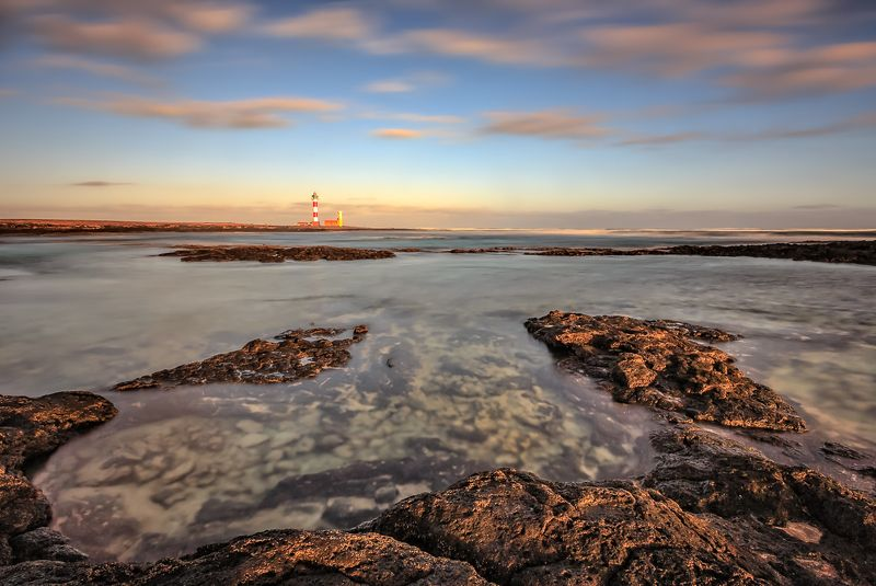 Tostón Lighthouse, Longexposure, Fuerteventura, Sunrise, Sunset, Clouds Tostón Lighthousephoto preview