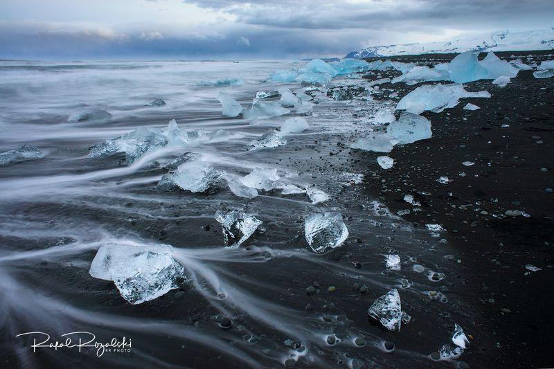 iceland, beach, landscape, ice, travel , blue Jökulsárlón beach - Iceland photo preview