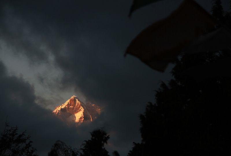 непал, Гималаи, закат, Тенгбоче ***photo preview