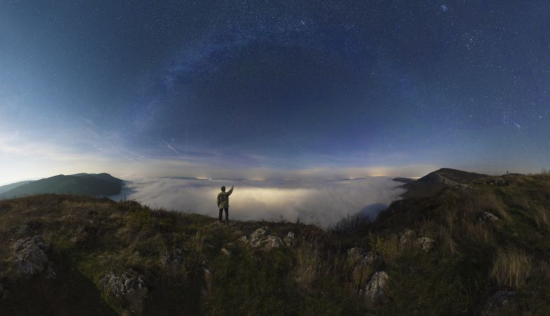#night #skalsko #nightscapes #milkyway #fog #stars  Skalsko under fogphoto preview