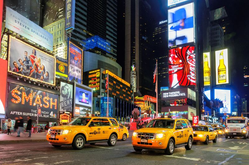 new, york, square, city, taxi, times, cab, street, yellow, nyc, manhattan, america, traffic, travel, usa, time, broadway, advertising Shine of New York at nightphoto preview