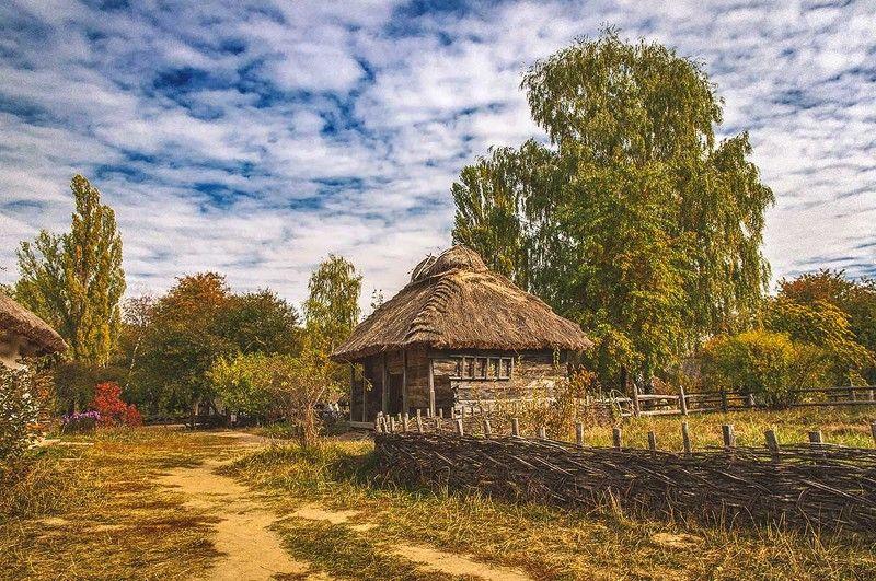 Пирогово,мельница,пейзаж,природа,лето,село,девушки,сеновал Village sketchesphoto preview
