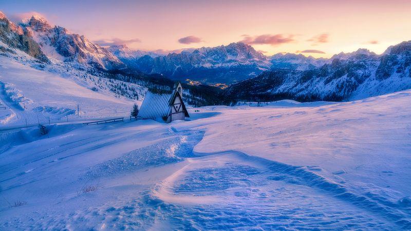 #italia #италия #горы #доломиты утренняя сказкаphoto preview
