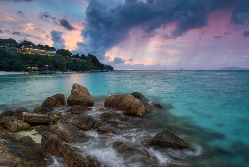 толмачев дмитрий, закат, море, национальный парк туратао, ко липе, тайланд, камни, отлив, отпуск, лето Дождь надвигается...photo preview