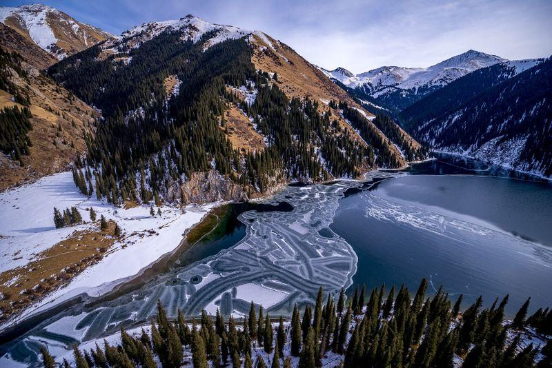 казахстан, горы, тянь-шань, кольсай, кольсайские озера, кунгей-алатоо, Кольсайские озера в ноябреphoto preview