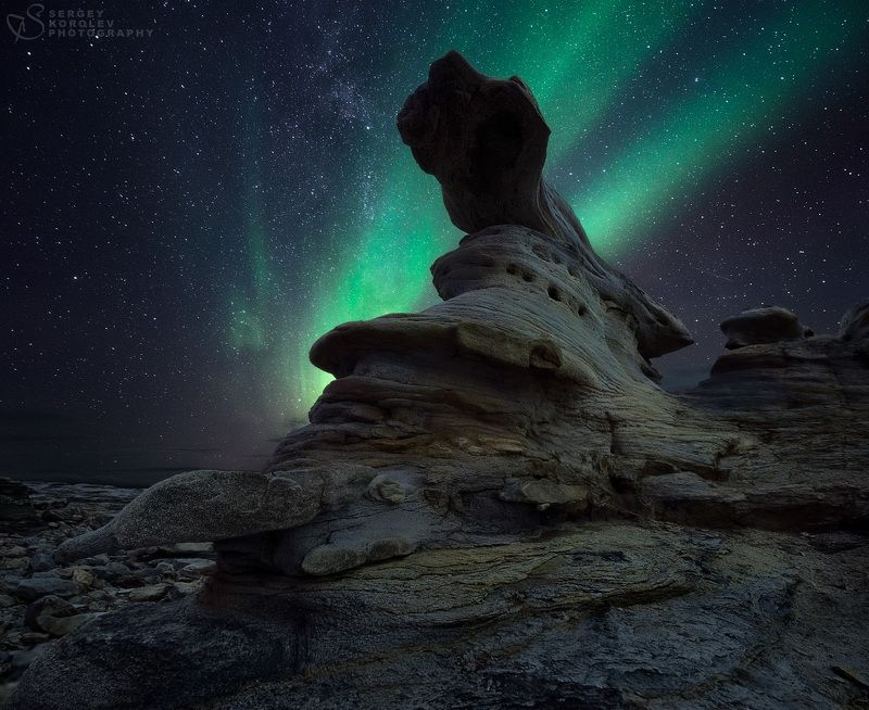 полярное сияние, кольский Гость из соседней галактикиphoto preview