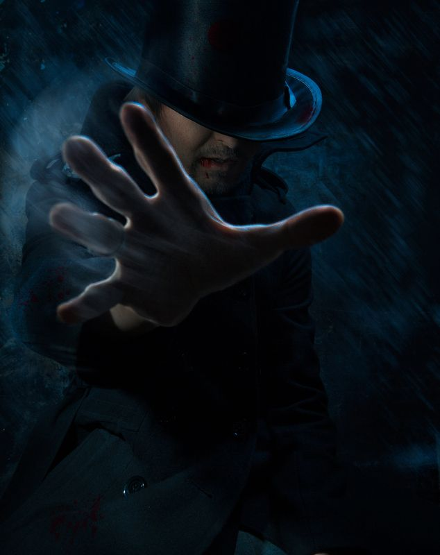 вампир, кошмары, человек, мужчина, ужасы, шляпа, цилиндр, портрет, дым, сигарета, курение, креативный, кровь the man from my nightmaresphoto preview