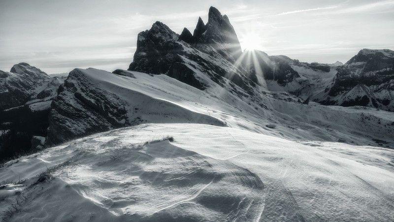 #italia, #италия, #горы, #доломиты Зимнее утроphoto preview