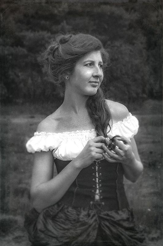 портрет,девушка,ч/б,жанр,стимпанк,steampunk ***photo preview