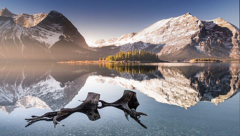 озеро рассвет дымка Пловцыphoto preview