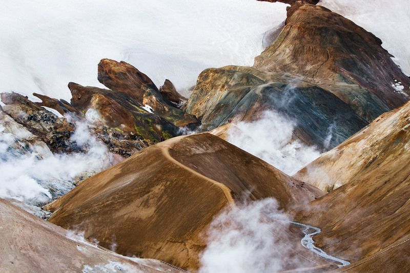 исландия, пейзаж, iceland, пейзажи исландии, горы исландии, landscape, nature Термальные источники Исландииphoto preview