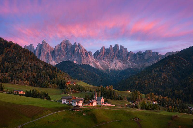 Италия, вечер, небо, облака, горы, санта маддалена Вечер Санта Маддаленыphoto preview