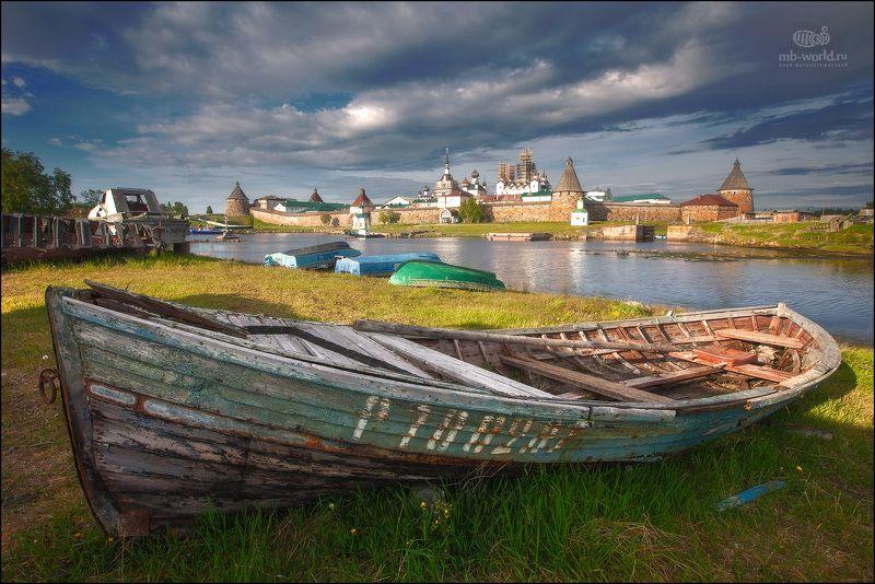 россия, соловки, остров, пейзаж, лето, лодка, Летний день на Соловецких островахphoto preview