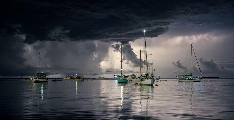 #tropical_storm #sailboaats #cloudy_sky #lightningstrike #storm Sailboat Skyphoto preview