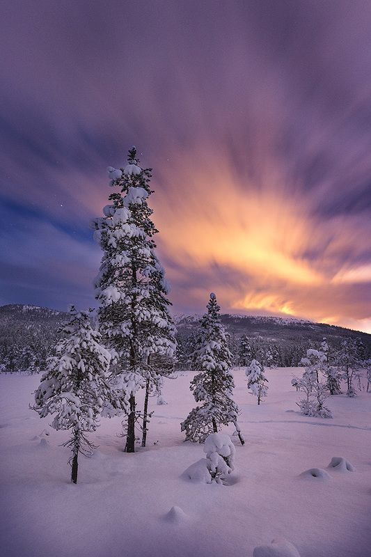 night, night light, night photo, night sky, winter, snowy, snow, norway, norwegian, long time exposure Winter nightphoto preview