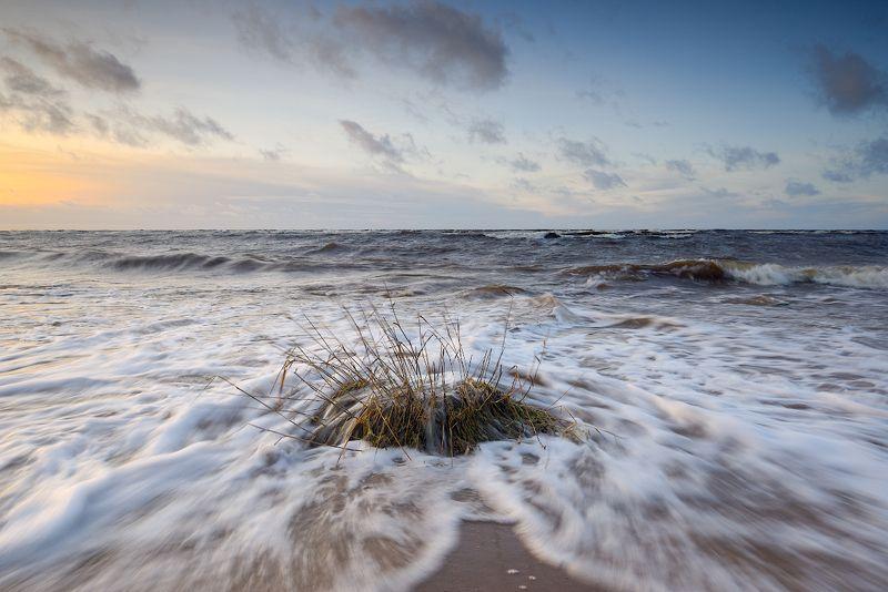 пейзаж, шторм, море, закат, волны, латвия ***photo preview
