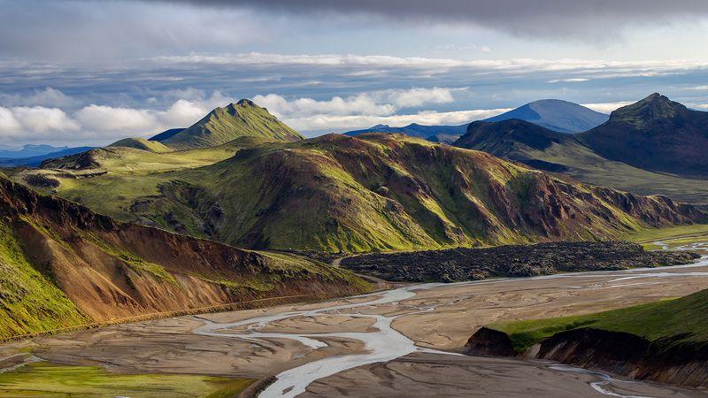 исландия, пейзаж, iceland, пейзажи исландии, горы исландии, landscape, nature, mountains, ландманналаугар Исландияphoto preview