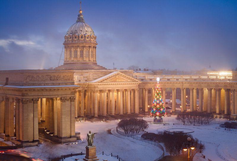 Санкт-Петербург, крыша, город, зима, снег, церковь С Новым Годом, Питер!photo preview