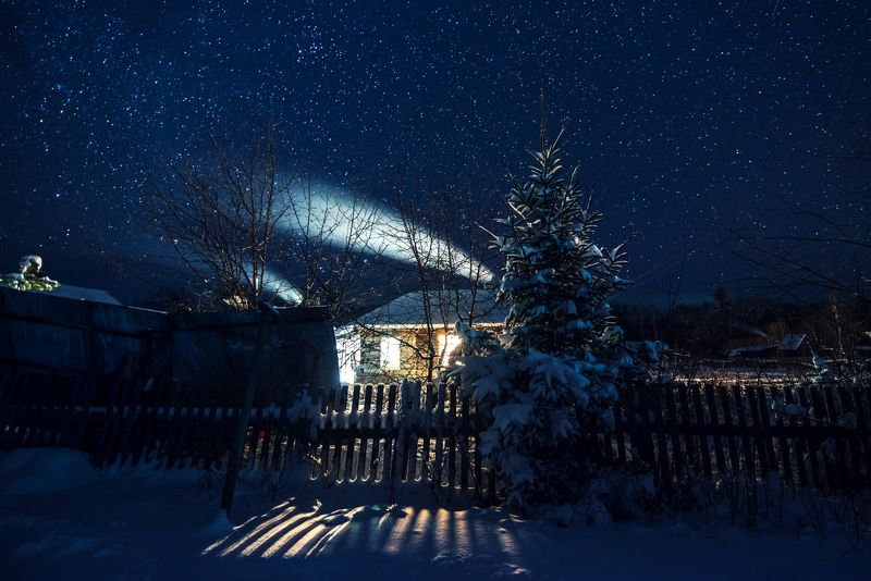 Ночь Звёзды Деревня Ночь перед Рождествомphoto preview