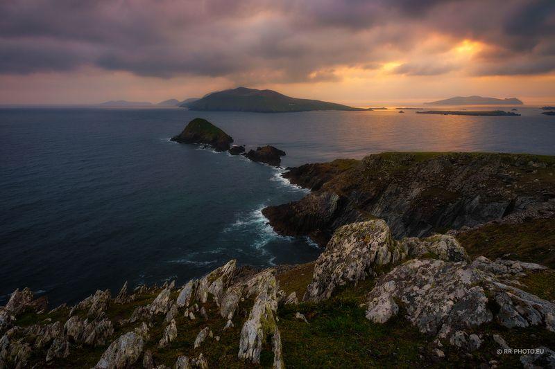 ireland, landscape, kerry, dingle, sea, nature, cliffs, sunset, Slea Head - Ireland photo preview