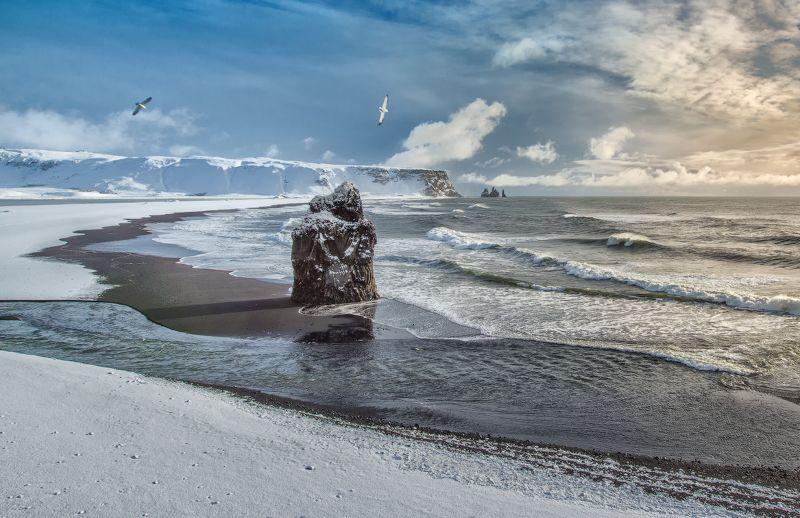Дюрхолей, Исландия  Зимний Дюрхолейphoto preview