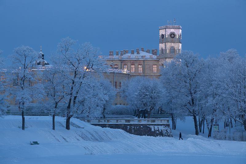 гатчина, зима, гатчинский дворец, приоратский дворец Зима в Гатчинеphoto preview