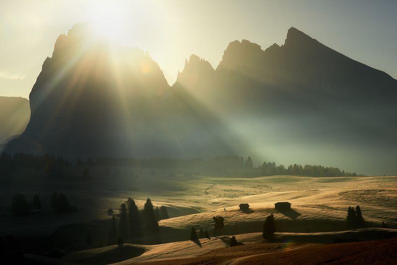 #dolomites #italy #alpedisiusi #landscape #poland #marcinkesek Alpe di Siusiphoto preview