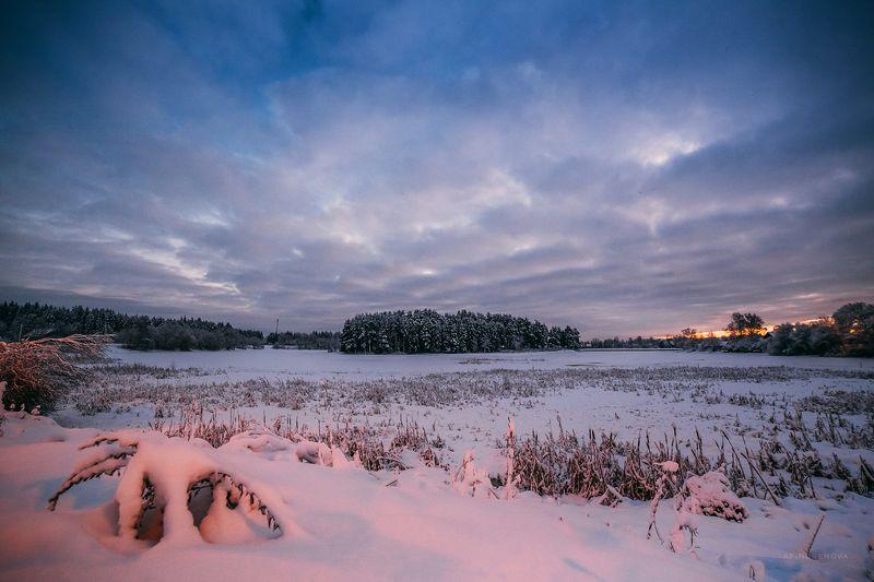 зима, снег, декабрь, вода, отражение ###photo preview