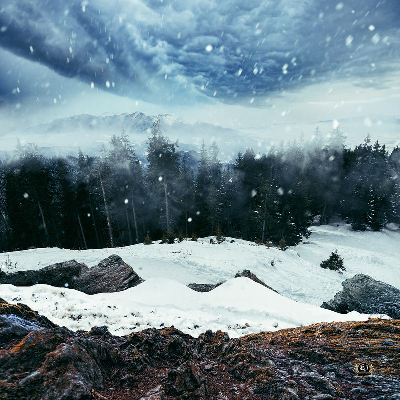 snow, winter, landcape, ps, manipulation Silcencephoto preview