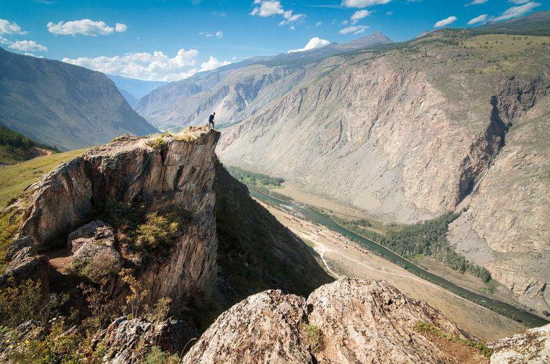 Алтай, Россия, пейзаж, вершина, горы, человек, портрет Кату-Ярыкphoto preview