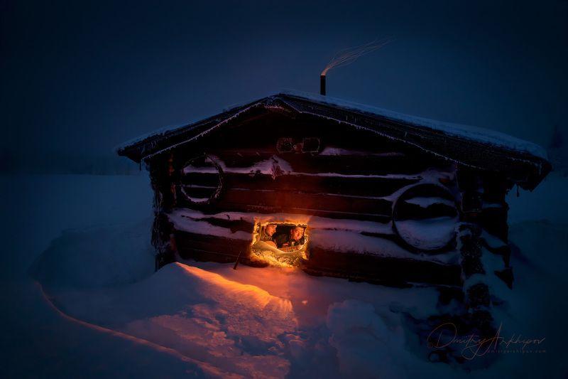 Зимняя ночь на Северном Урале.photo preview