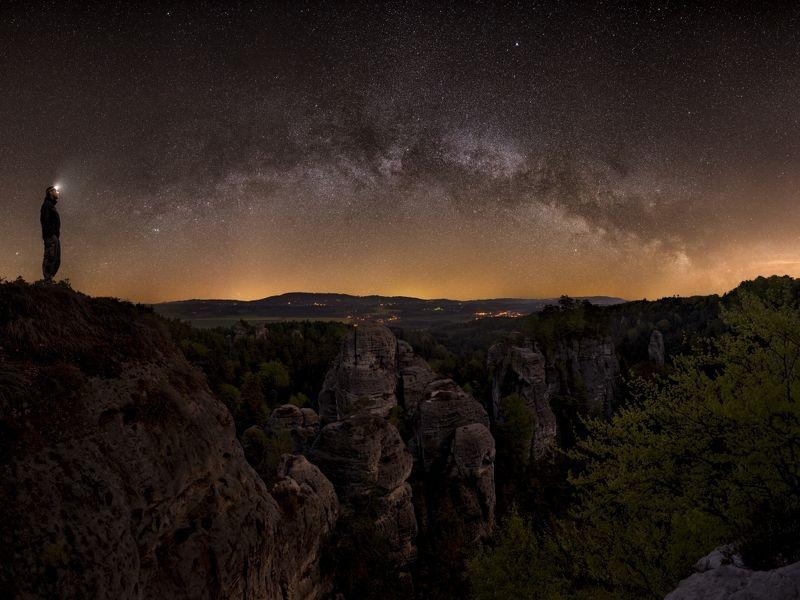 czech paradise, czech republic, milky way, starscape,astro,galaxy Bohemian Paradisephoto preview